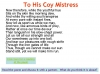 To His Coy Mistress Andrew Marvell (slide 9/36)